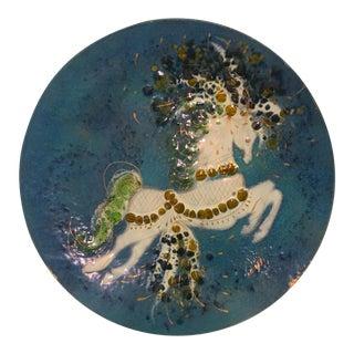 Sascha Brastoff Enamel Hanging Platter For Sale
