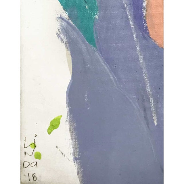 """Contemporary Abstract Portrait Painting """"My Mother's Daughter"""" - Framed For Sale - Image 4 of 9"""