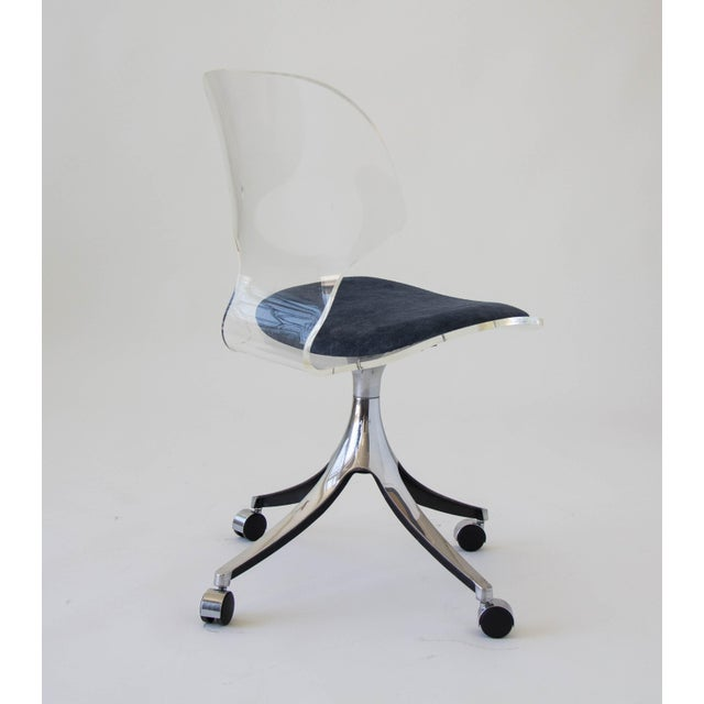 Hill Manufacturing Co. Lucite Rolling Desk Chair - Image 4 of 9