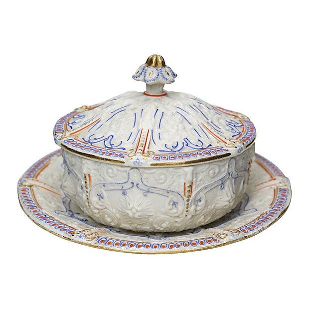 Antique Salt Glaze Covered Serving Dish For Sale In Los Angeles - Image 6 of 6