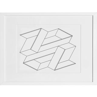 Josef Albers - Portfolio 2, Folder 21, Image 2 Framed Silkscreen For Sale