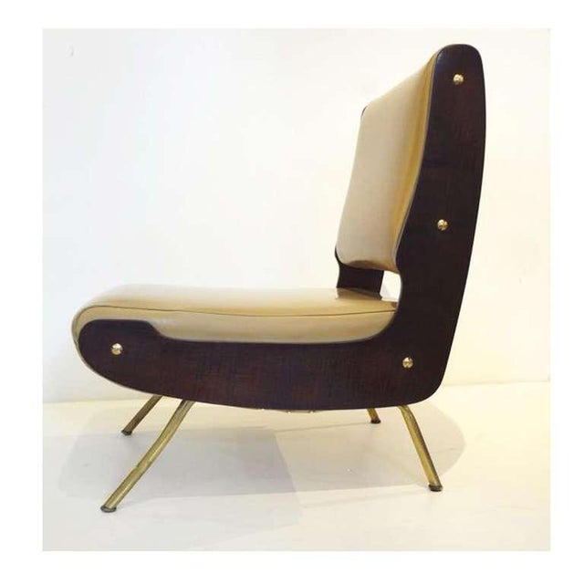 Gianfranco Frattini Pair of Slipper Chairs For Sale - Image 9 of 10