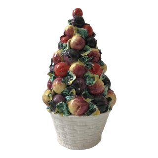 Vintage Porcelain Italian Fruit Topiary For Sale