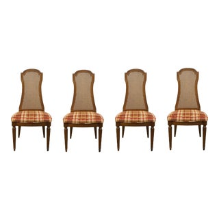 Drexel Furniture Italian Neoclassical Dining Side Chairs - Set of 4 For Sale