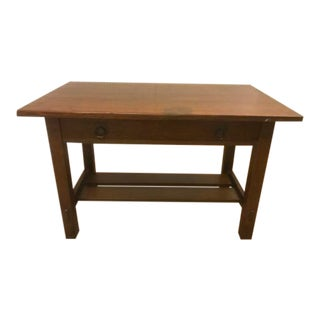 20th Century Stickley Brothers Oak Library Table For Sale