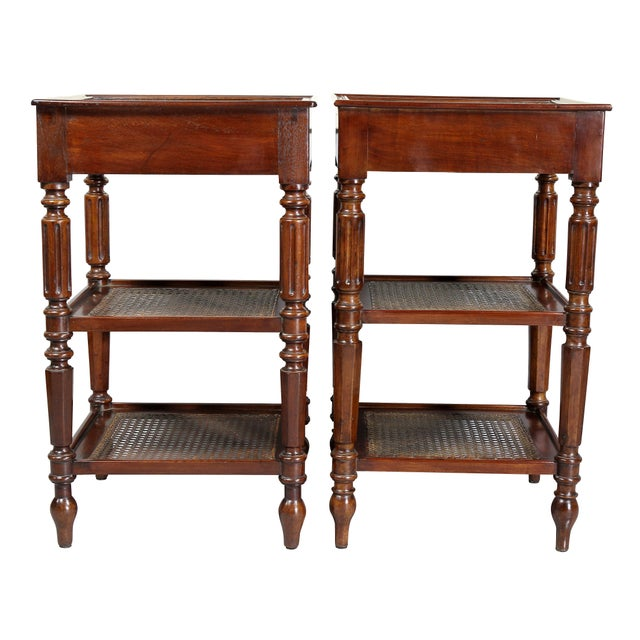French Matching Charles X Mahogany End Tables - a Pair For Sale - Image 3 of 12