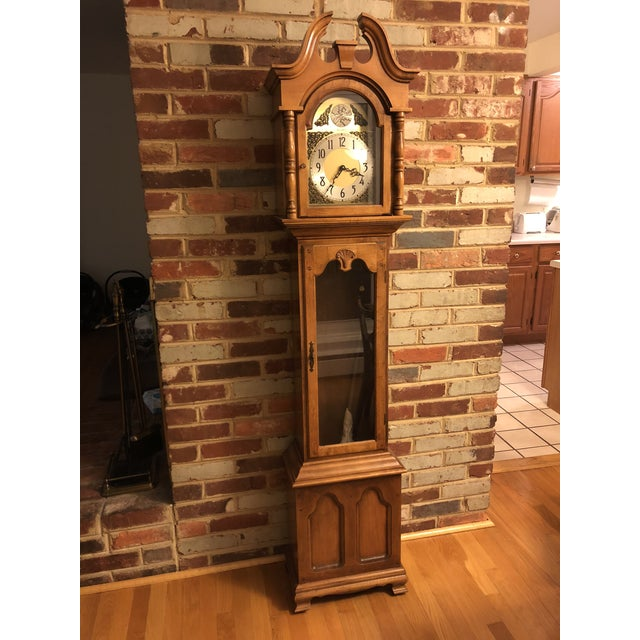 Brown Herschede Lady Hawthorne No. 611 Grandfather Clock For Sale - Image 8 of 8