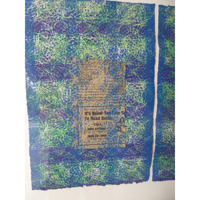 Contemporary Abstract Newspaper Print For Sale - Image 5 of 11