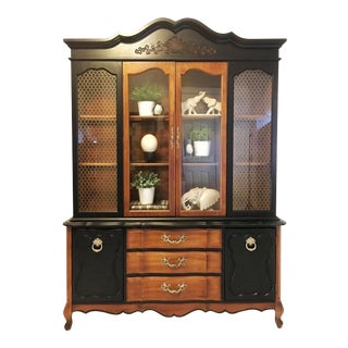 20th Century French Provincial China Cabinet For Sale