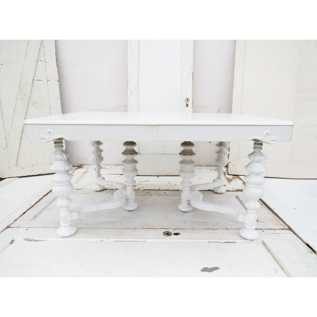 Manor Antique White Dining Table - Image 2 of 5