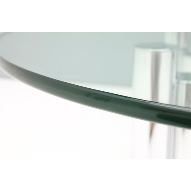 Modern Coffee Table in Chrome & Glass 1970s For Sale - Image 4 of 11
