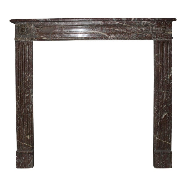 French, Louis XVI Style Marble Mantel For Sale