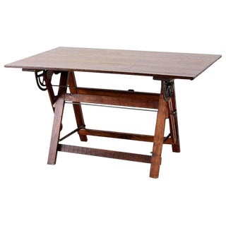 American Folding Drafting Table or Writing Table For Sale