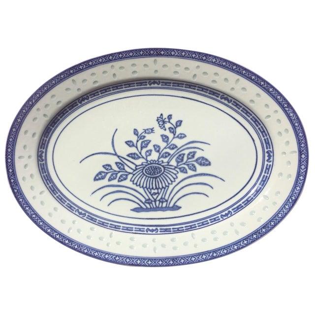 Vintage Blue & White Porcelain Platter - Image 1 of 5