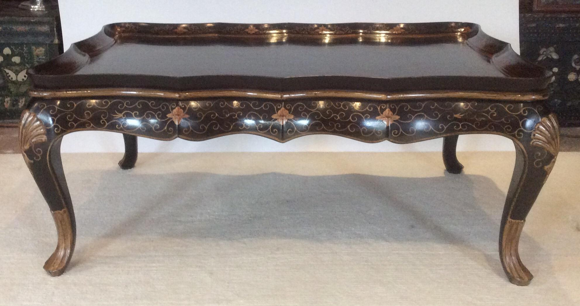 Burton Ching Black Chinoiserie Coffee Table   Image 2 Of 11