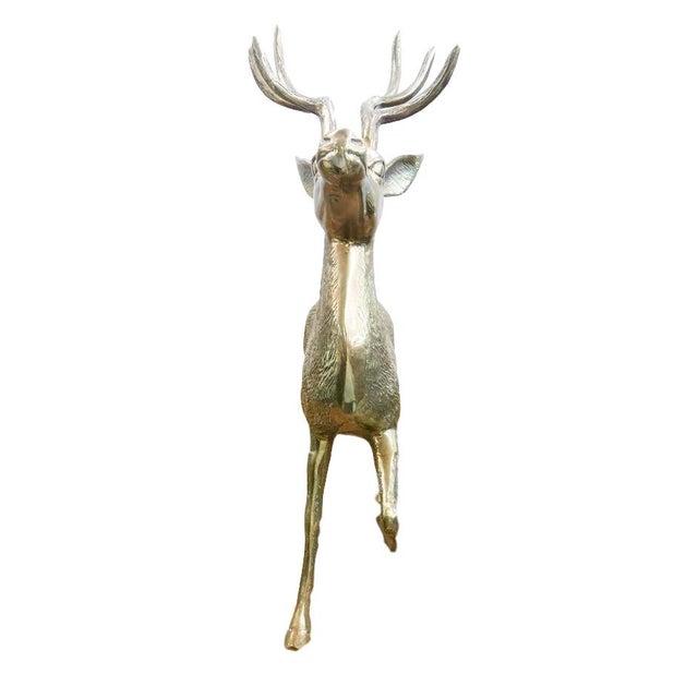 Lodge Vintage Brass Elk For Sale - Image 3 of 3