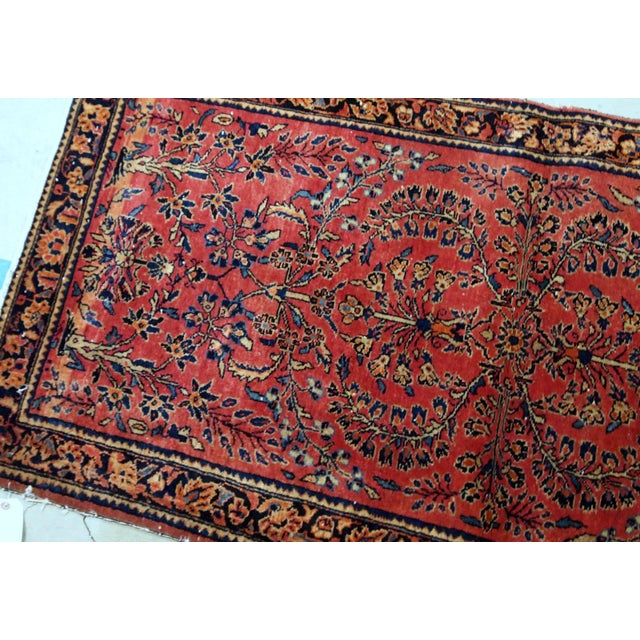 1900s, Handmade Antique Persian Sarouk Runner 3.2' X 7.10' For Sale - Image 10 of 12