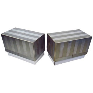 Paul Evans Style Chrome Plated Cabinets For Sale