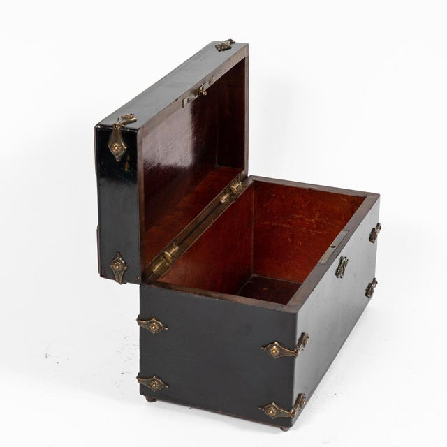 French Ebonzied and Decorated Box For Sale - Image 4 of 9