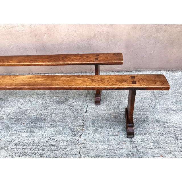 19th Century Antique Benches - a Pair For Sale - Image 4 of 12