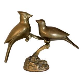 Brass Bird Sculpture For Sale