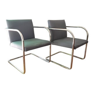 Mies Van Der Rohe for Thonet Brno Chairs - a Pair