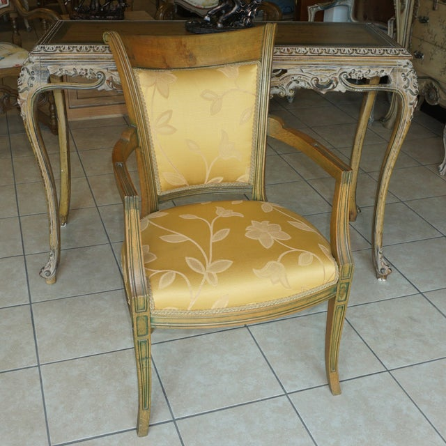 Hand-Carved European Accent Chairs - a Pair - Image 3 of 9