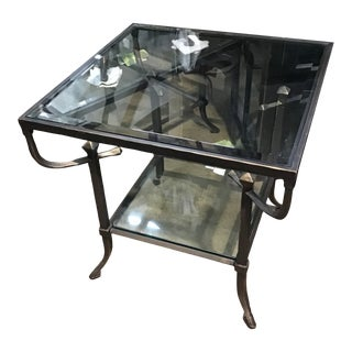 Industrial Style Hawthorne End Table For Sale