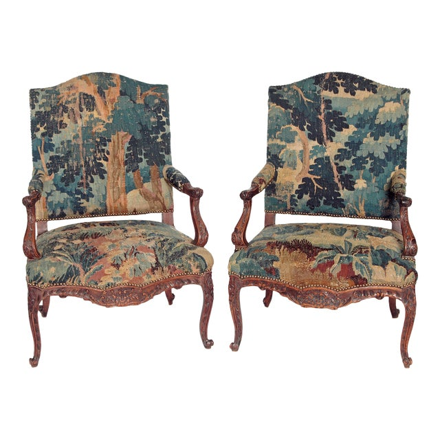 Pair of Period Louis XV Fauteuils - Image 1 of 9
