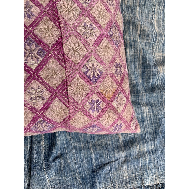Feather Antique Tribal Wedding Quilt Pillow For Sale - Image 7 of 11