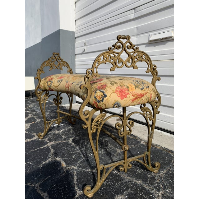 French Provincial Early 20th Century French Boudoir Bench For Sale - Image 3 of 12