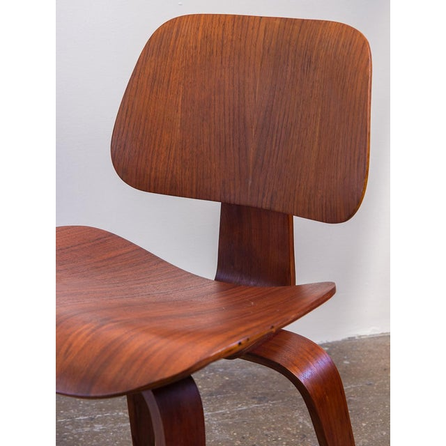 Brown Early Eames Walnut Dcw Chairs for Herman Miller - a Pair For Sale - Image 8 of 12