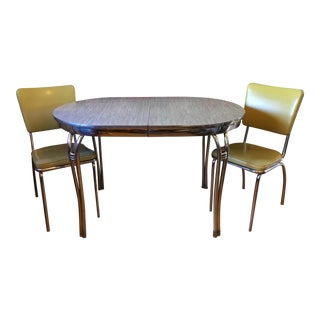 Mid Century Retro Formica Dining Set - 3 Pieces For Sale