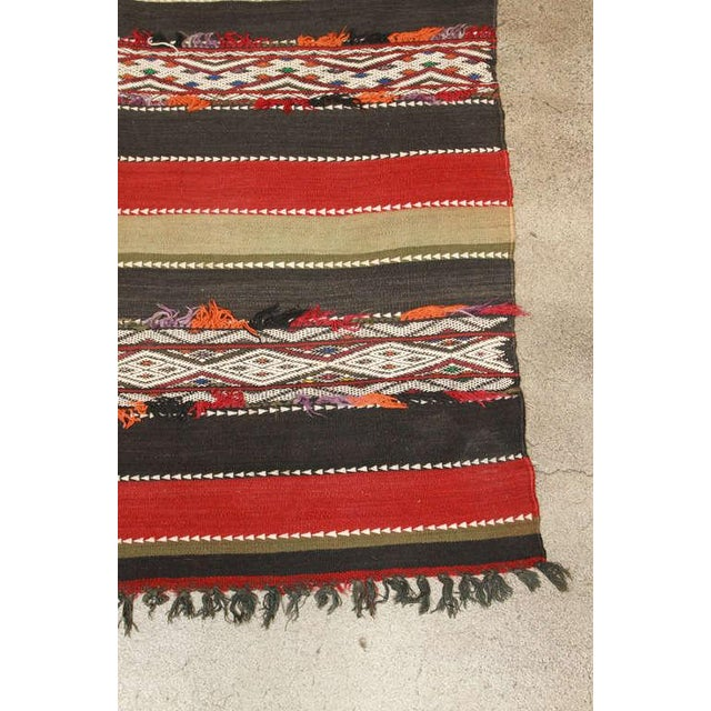 Vintage Moroccan Tribal Kilim Rug North Africa For Sale - Image 9 of 10