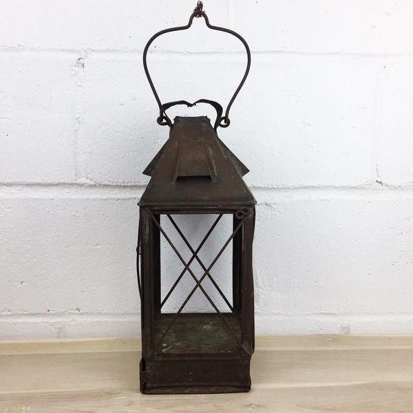 Antique Rustic French Style Candle Lantern - Image 8 of 10