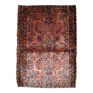 1920s, Handmade Antique Persian Sarouk Rug 3.3' X 5.5' For Sale
