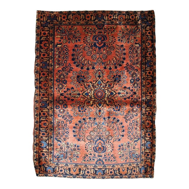 1920s, Handmade Antique Persian Sarouk Rug 3.3' X 5.5' For Sale