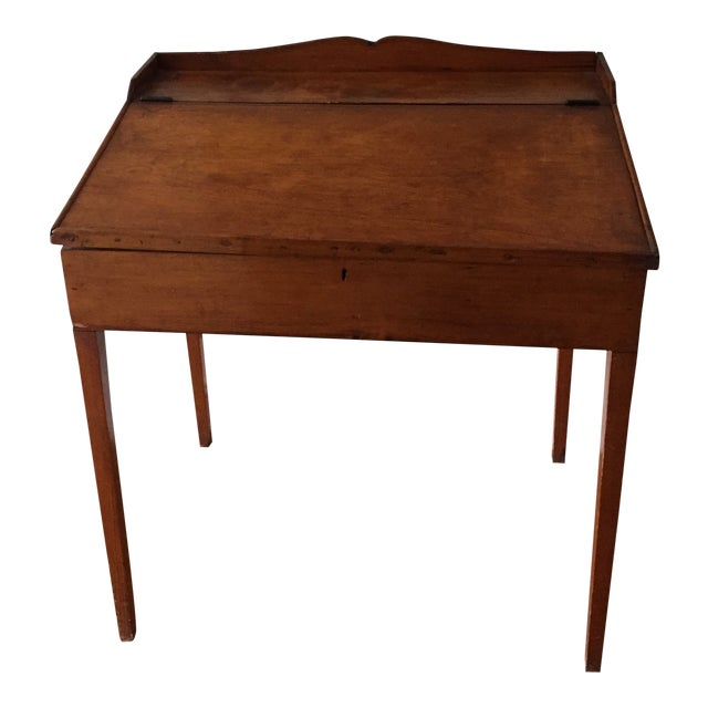 19th Century Antique Flip Top Desk - 19th Century Antique Flip Top Desk Chairish
