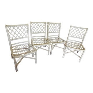 Ficks Reed Rattan Dining Chairs - Set of 4
