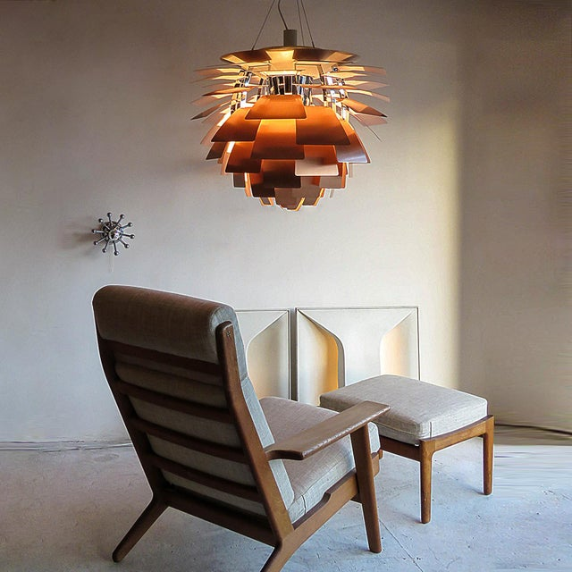 1950s Large Ph Artichoke Copper Lamp by Poul Henningsen For Sale - Image 10 of 11
