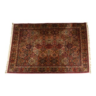 Handmade North American Wool Knotted Rug For Sale