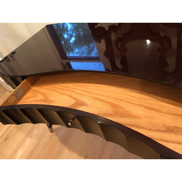 Barbara Barry Baker Black Lacquered Desk For Sale In Chicago - Image 6 of 8