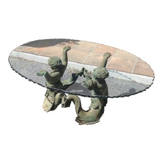 "Bronze ""Merman"" Cocktail Table For Sale"
