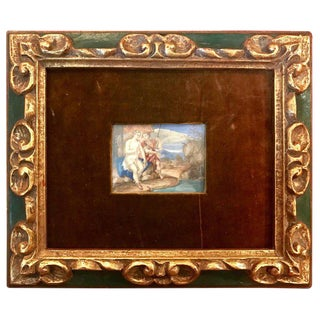 18th Century Antique French Miniature Painting For Sale
