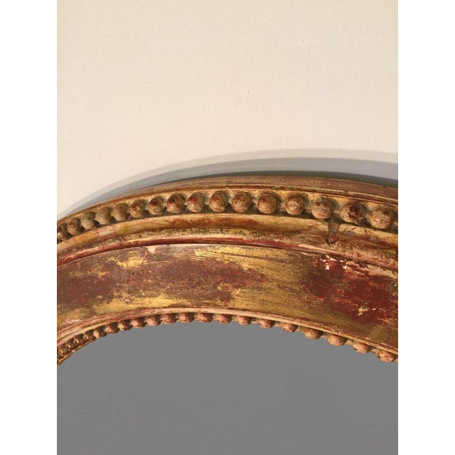 19th C. French Oval Giltwood Mirror - Image 4 of 5