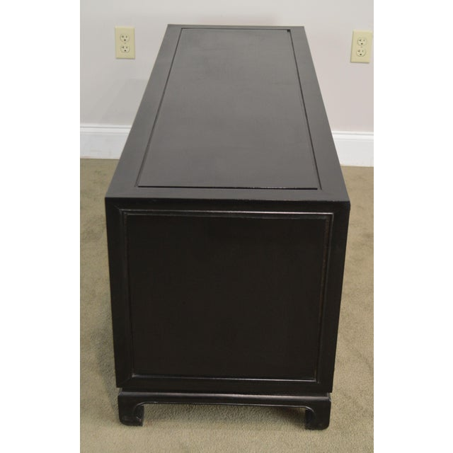 Royal Cathay Trading Co. Vintage Black Painted Asian Low Console Cabinet For Sale In Philadelphia - Image 6 of 13