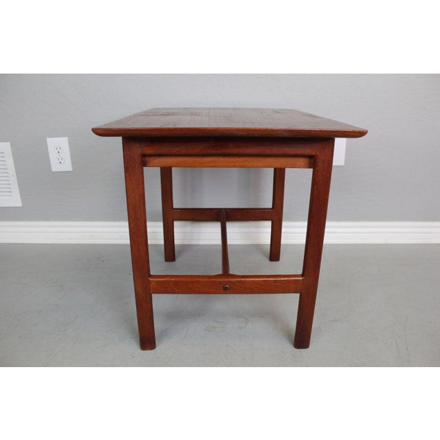 George Tanier Teak Side Table by P. Jeppeson For Sale In Phoenix - Image 6 of 9