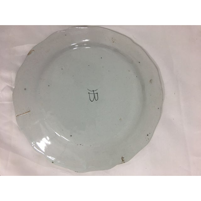 Quimper Plates With Men- Set of 3 For Sale - Image 10 of 11