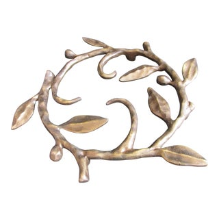 Bronze Michael Aram Leaf Trivet For Sale