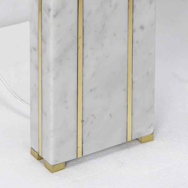 Rectangular Marble Table Lamp For Sale - Image 4 of 7